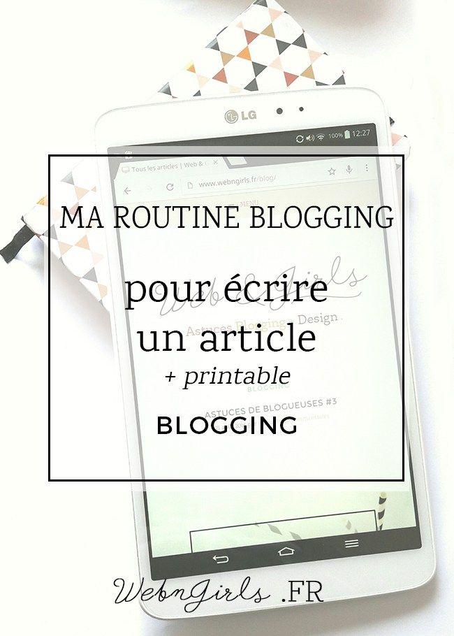 Routine Blogging écrire un article blog