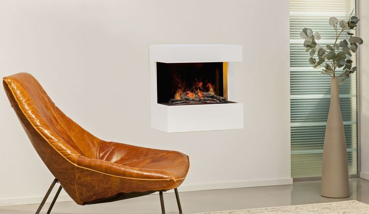 Create a cozy environment with a fireplace.
