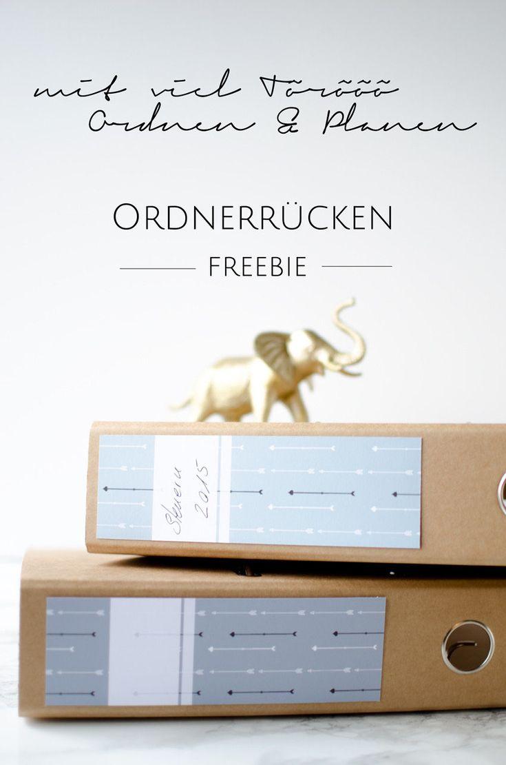Ordnerrücken zum Download (Freebie) - Stilarten | Kunst und Design