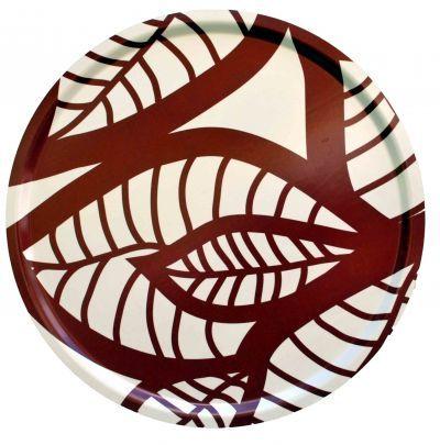 Mairo red Hosta tray. Designed by Linda Svensson Edevint.