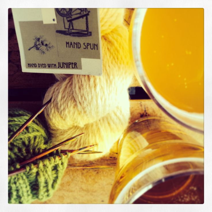 """Alberta Yarn Project tangle yarn and beer together, by Catherine Szabo 