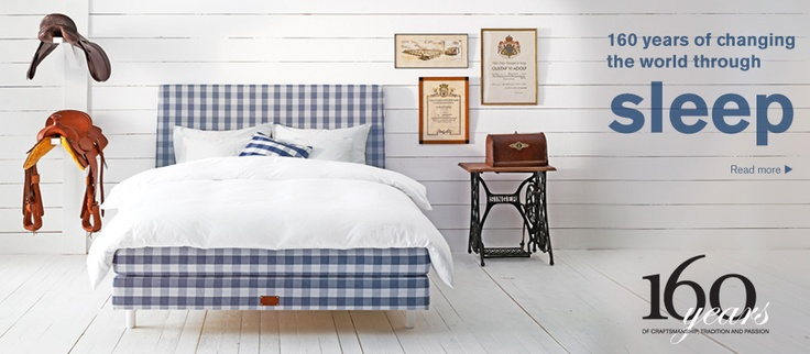 Love the blue & white checks!  And I LOVE the fact that these beds are made with all natural materials.  Hastens.com