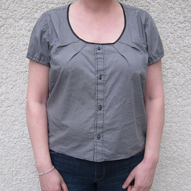 Men's Dress Shirt Redo by katbaro - turn a man's buttondown into a womens peasant style shirt!