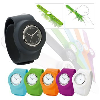 Relive the 80's with this slap-on silicone wristwatch.