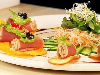 Tataki de atún aleta amarilla