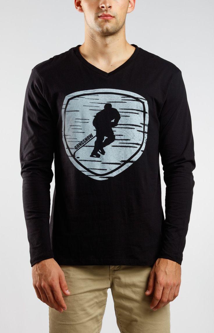 Back In Black Mens Gongshow Longsleeve Black Hockey Shirt | GONGSHOW Hockey Lifestyle Apparel