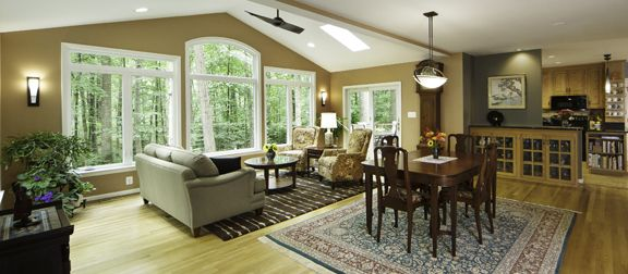 Schroeder Design Build Opened Up This Virginia Home To Create Open Concept Living Spaces Building Design Virginia Homes Design