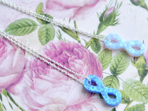 #infinity necklace, baby blue opal forever necklace, #8 pendant, eigth charm, gemstone infinity,# Lemniscate, eight shaped curves, twist, opal baby blue infinity opal 925 sterling silver necklace, forever pendant, opal eigth shape, ligth blue, real love jewelry, petite necklace