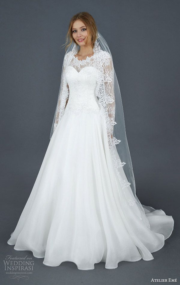 17 best images about lace wedding dresses on pinterest for Long sleeve princess wedding dresses