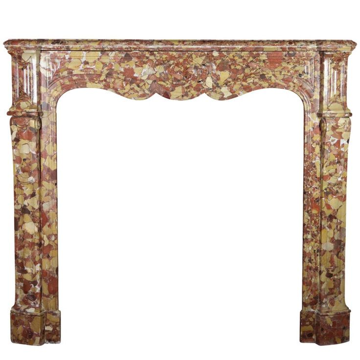 19th Century Antique and Classic French Pompadour Marble Fireplace Surround