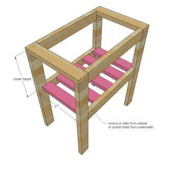 Ana White   Build a Pallet Cooler Stand   Free and Easy DIY Project and Furniture Plans