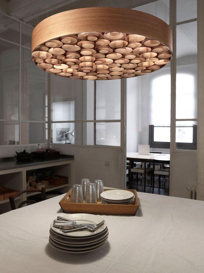 Lamparas de diseño en madera SPIRO. Iluminacion Beltran tu tienda online en Colgantes de diseño en madera. www.lamparasyapliques.com
