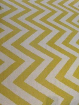 Cool chevron rug for yellow and grey decor