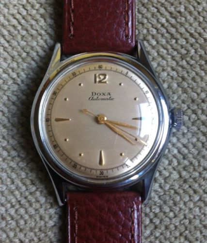 schoene-original-DOXA-Hammer-Automatic-Herren-Mechanische-Uhr-40er-Jahre