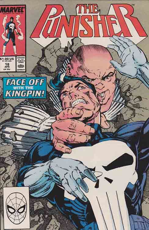 The Punisher #18. It's the story you've been waiting for: the Punisher and the Kingpin face-to-face! Story by Mike Baron.