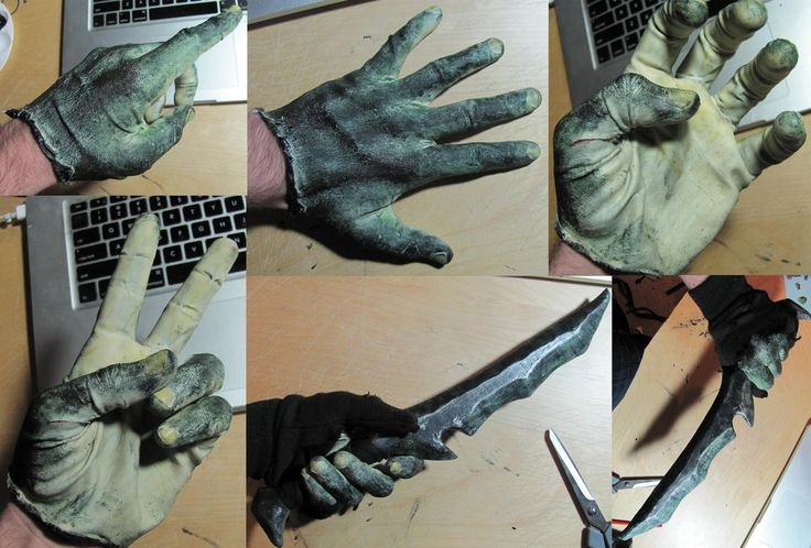Keeping paint on my hands has always been a struggle...  Orc hand glove by Armenoc on deviantART