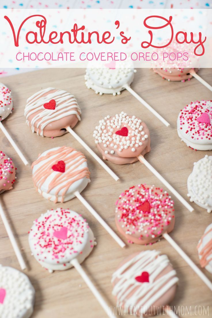 Make these EASY Valentine's Day Chocolate Covered Oreo Pops for your sweetheart! ♥️  Timeout with Mom: Valentines Day Chocolate Covered Oreo Pops