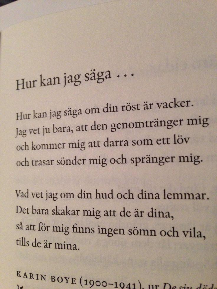 Karin Boye ♥️