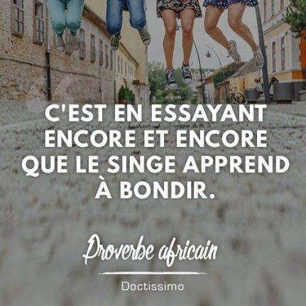 Proverbe africain pour positiver