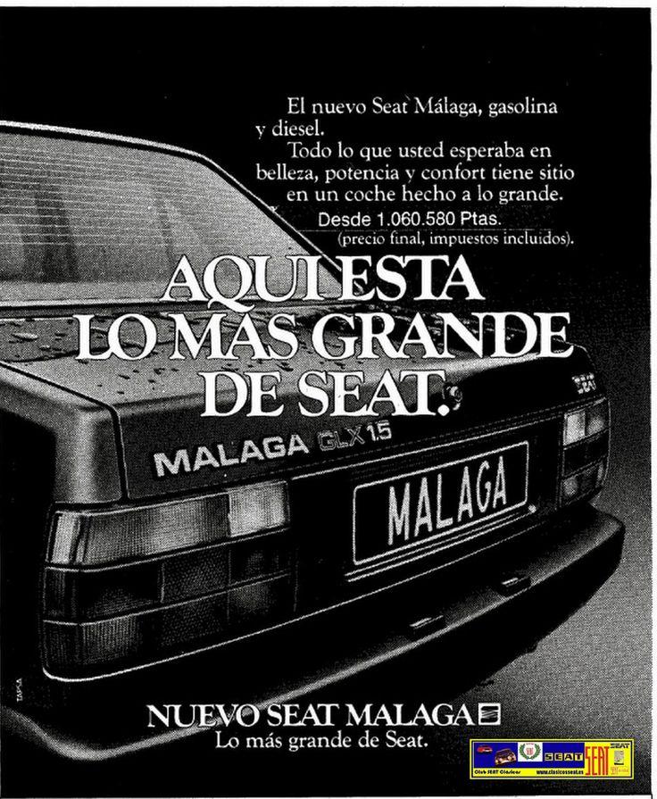 seat malaga publ 1985 petrol headz pinterest malaga. Black Bedroom Furniture Sets. Home Design Ideas