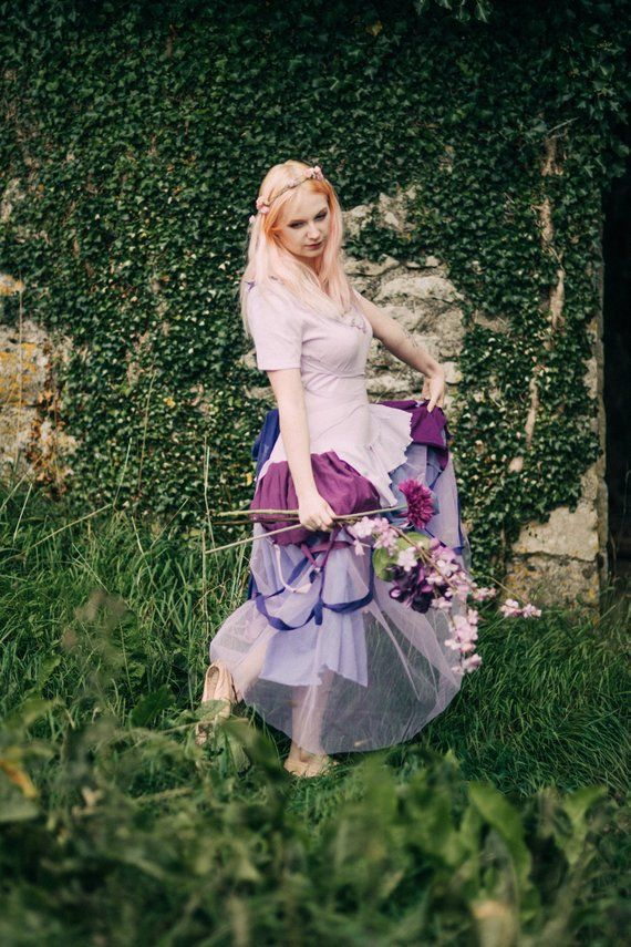 515ee1535 Lilac & Purple Fairy dress, cosplay, kawaii fairytale ball gown, pastel  witch costume; festival fashion, Adult Cinderella costume