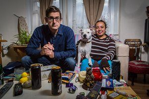 The ever-popular documentary-maker Louis Theroux with Aurelie in Drinking to Oblivion.