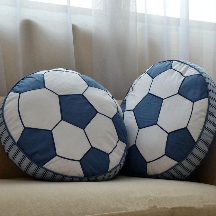 Cartoon football shape cushion pillow kids bed room decor