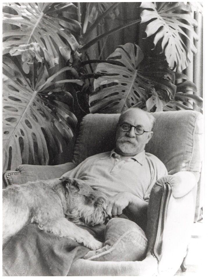 #Matisse and his dog. Matisse!