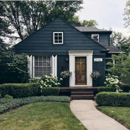 Navy Blue Exterior House Paint Colors Design