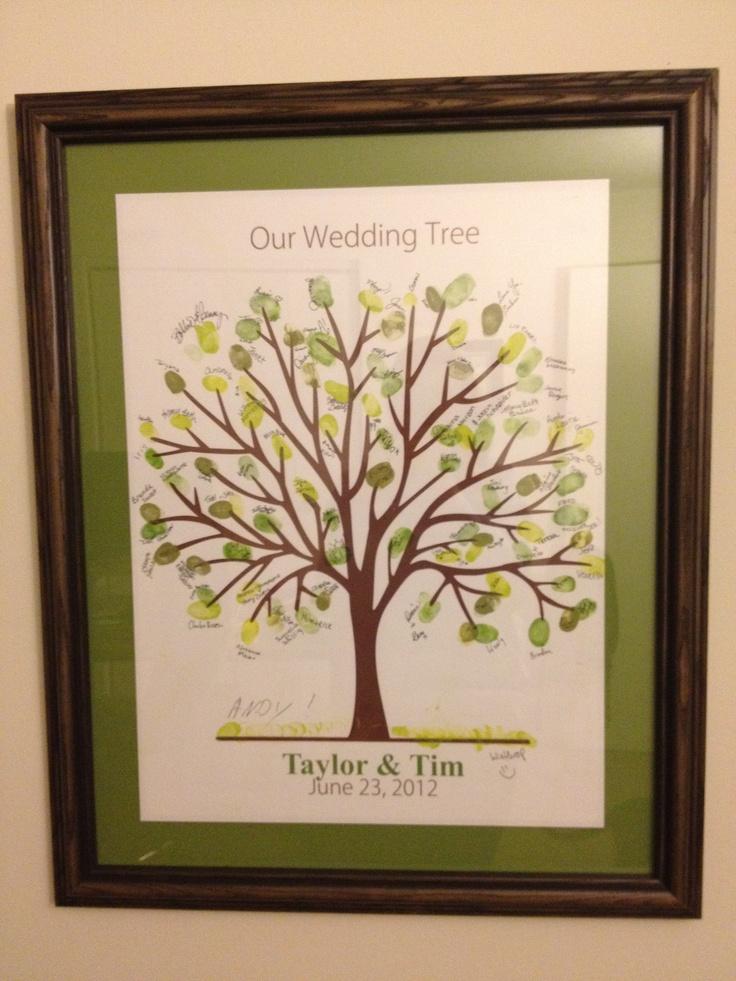 Wedding Tree Alternative Guest Book Wedding Guest Book