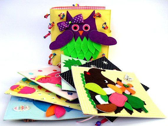 ¡Listo para enviar! Tranquilo para niños libro libro ocupado, ocupado bolsa de tela, libro de actividades, libro de actividades para niños pequeños, juguetes sensoriales, sistemas del regalo del libro del niño, regalo de Pascua. Estos libros son hechos a mano con increíble cantidad
