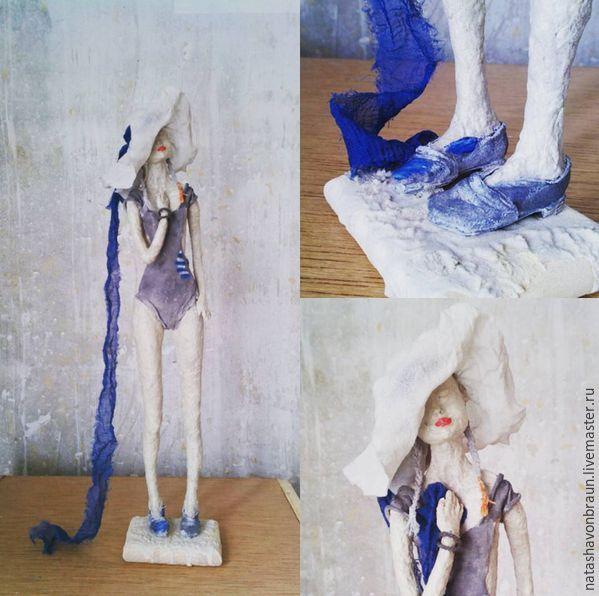 Купить Воспоминания о лете - синий, девочка, подросток, импрессионизм, экспрессионизм, Живопись, скульптура, кукла, искусство