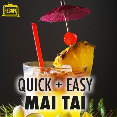 Tiki Party Cocktails: Quick and Easy Mai Tai & Ocean Blue Recipe