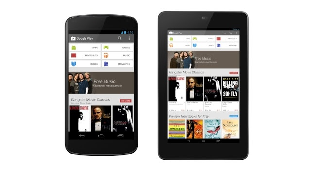 New Redesigned Google Play Store (version 4.0.25) Now Available For Download