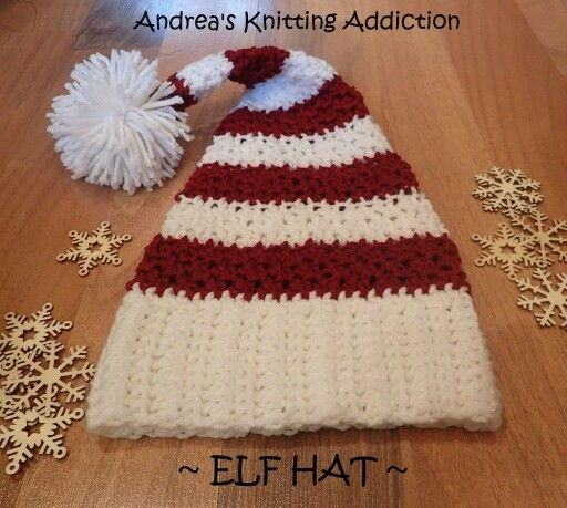 My version of a Christmas Elf Hat - super cute idea for baby, toddler, or a young child.