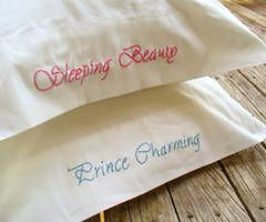 I need to get silk pillow cases and have my mom embroider these. Love.