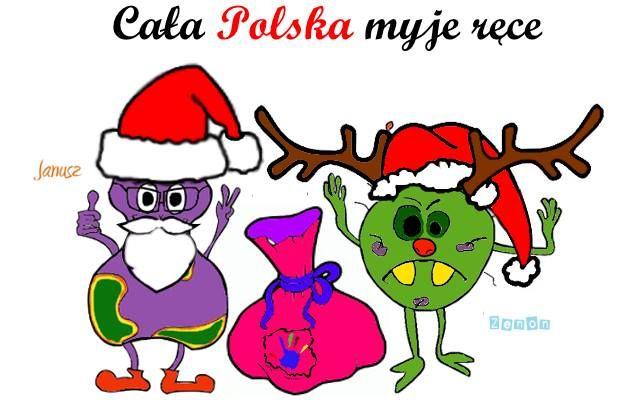 Mamy nadzieję, że dziś wszystkie dzieci odwiedził prawdziwy Mikołaj. U nas dziś na wesoło, mikołajowy Zenon i Janusz :). Nadal pamiętają o myciu rąk!