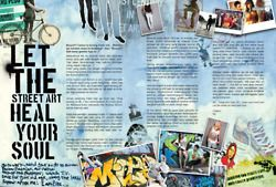 Planet Surf magazine lay out