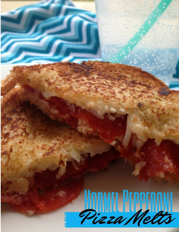 Hormel Pepperoni Pizza Melts - Add some pizzazz to your grilled cheese! Just some pepperoni and pizza sauce turns your normal grilled cheese into a scrumptious pizza melt!
