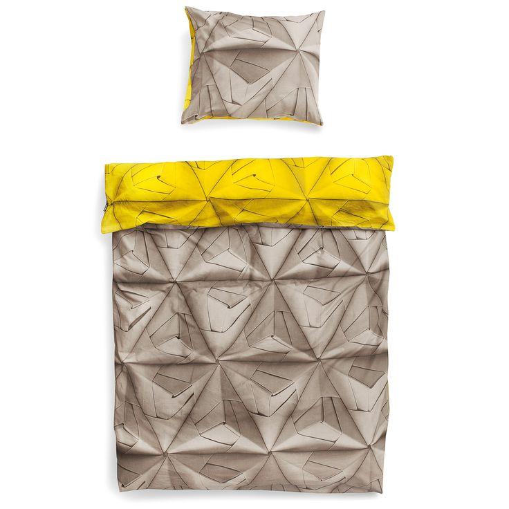 Monogami dekbedovertrek geel | Snurk