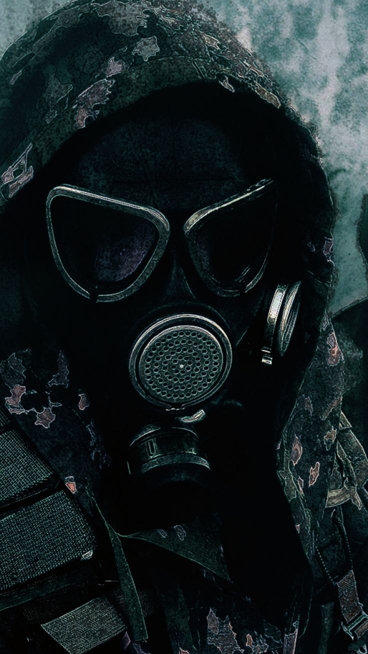 Download this Wallpaper iPhone 6S Military/Gas Mask