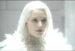 Bridget Fonda as The Snow Queen, the fairy tale version. Also a good Arienrhod with the long white hair and diamond choker.
