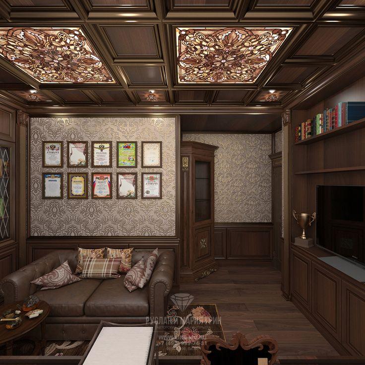Дизайн интерьера кабинета в квартире в классическом стиле