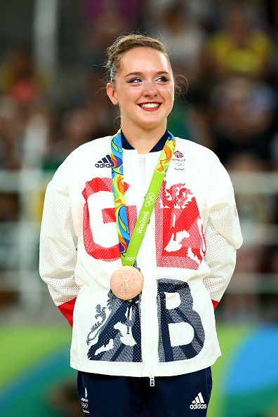 Team GB's youngest competitor wins a bronze medal in the women's gymnastics floor, Amy Tinkler