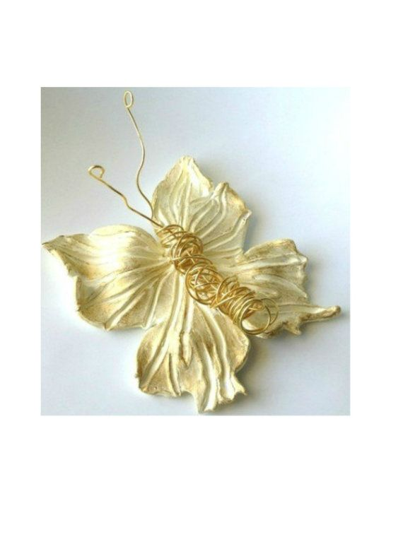 Shiny  Butterfly Art  Hot Pink and Gold by TALITTA on Etsy