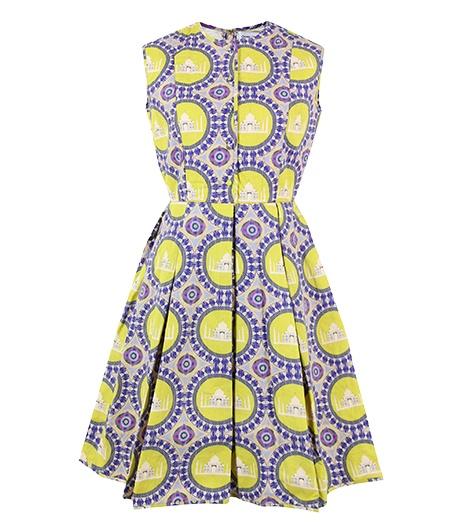 Charlotte Taylor Quilted Taj Print Dress