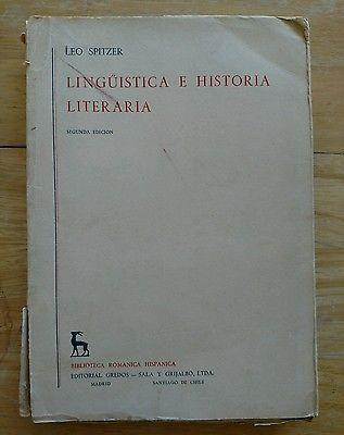 Linguistica e Historia Literaria _ Linguistics and Literary History Spanish 1961