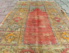"1900s Antique Kirsehir Turkish Prayer Pile Rug 2'9''x4'9"" Turkey"