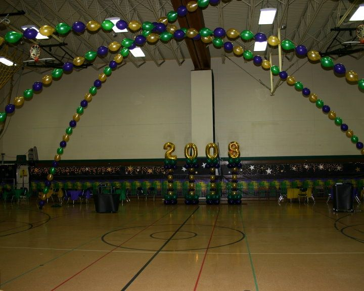 Mardi gras dance floor arches by balloons by design for Balloon dance floor decoration