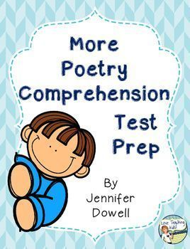 This test prep pack activity will help your students prepare forr any poetry assessment.  There are 3 public domain poems with  5-7 comprehension questions. This product is good for 3rd, 4th, and 5th graders.